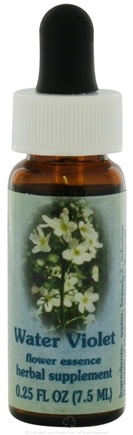 DROPPED: Flower Essence Services - Healing Herbs Dropper Water Violet - 0.25 oz. CLEARANCE PRICED