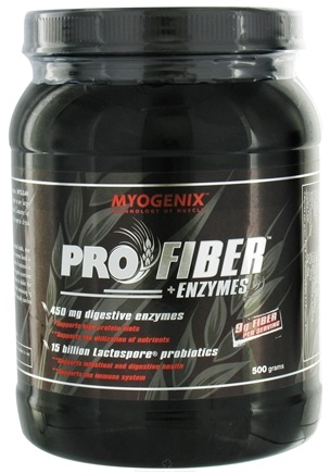 DROPPED: Myogenix - Pro Fiber + Enzymes Digestive Support - 500 Grams CLEARANCE PRICED