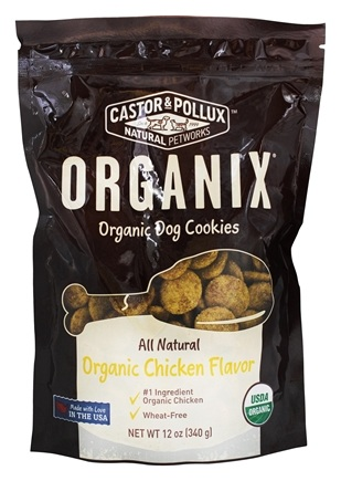 Zoom View - Organix Organic Dog Cookies Chicken Flavor