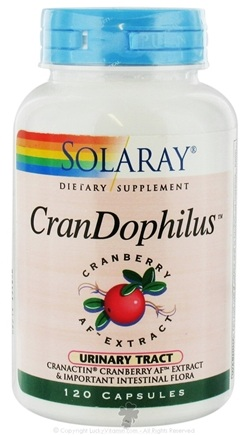 DROPPED: Solaray - CranDophilus CranActin Cranberry AF Extract & Important Intestinal Flora 400 mg. - 120 Capsules CLEARANCE PRICED