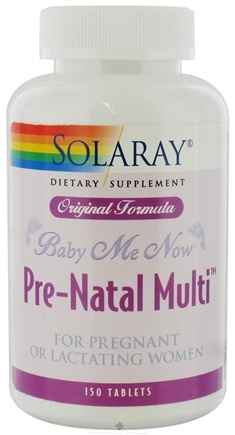 DROPPED: Solaray - Baby Me Now Original Formula Pre-Natal Multi For Pregnant Or Lactating Women - 150 Tablets CLEARANCE PRICED