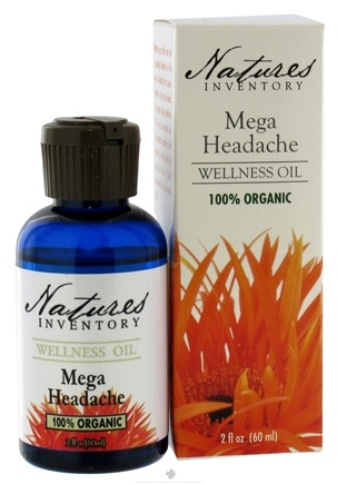 DROPPED: Nature's Inventory - Wellness Oil 100% Organic Mega Headache - 2 oz. CLEARANCE PRICED