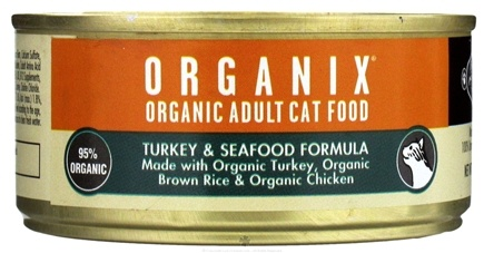 DROPPED: Castor & Pollux - Organix Organic Wet Cat Food Turkey & Seafood - 5.5 oz. CLEARANCE PRICED