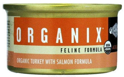 DROPPED: Castor & Pollux - Organix Cat Food Organic Turkey with Salmon Formula - 3 oz. CLEARANCE PRICED