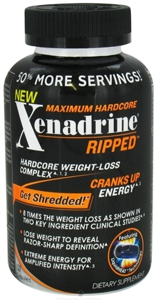 DROPPED: Cytogenix Laboratories - Xenadrine Ripped Maximum Hardcore Weight-Loss Complex - 120 Liquid Capsules Formerly RZR-X