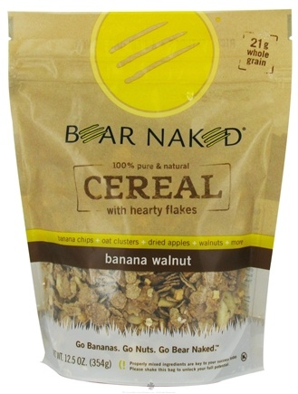 DROPPED: Bear Naked - Cereal 100% Pure & Natural with Hearty Flakes Banana Walnut - 12.5 oz.