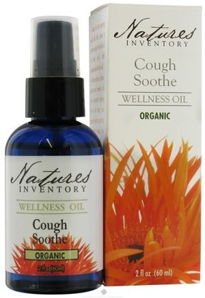 DROPPED: Nature's Inventory - Wellness Oil Organic Cough Soothe - 2 oz. CLEARANCE PRICED