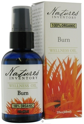 DROPPED: Nature's Inventory - Wellness Oil 100% Organic Burn - 2 oz. CLEARANCE PRICED