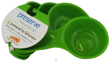DROPPED: Preserve - Dry Measuring Cups Apple Green Set - CLEARANCE PRICED