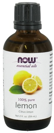 DROPPED: NOW Foods - 100% Pure & Natural Aromatherapeutic Lemon Oil - 2 oz. CLEARANCE PRICED