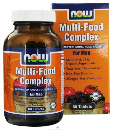 DROPPED: NOW Foods - Multi-Food Complex Fermented Whole Food Multi For Men - 80 Tablets