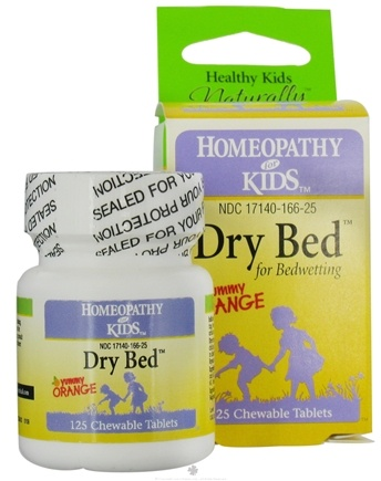 DROPPED: Herbs for Kids - Dry Bed for Bedwetting Yummy Orange - 125 Chewable Tablets