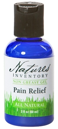 DROPPED: Nature's Inventory - Non Greasy Gel All Natural Pain Relief Gel - 2 oz. CLEARANCE PRICED
