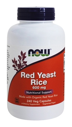 NOW Foods - Red Yeast Rice 600 mg. - 240 Vegetarian Capsules