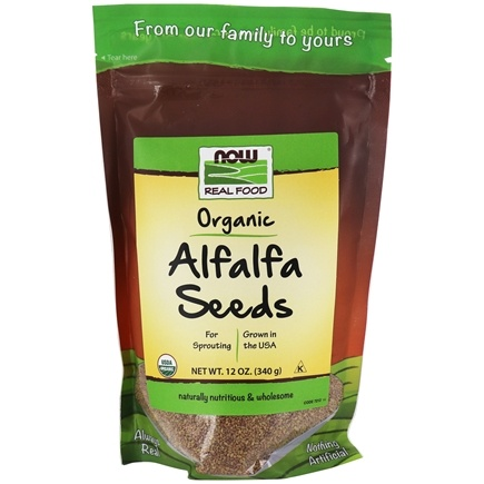 Zoom View - Alfalfa Seeds For Sprouting Certified Organic