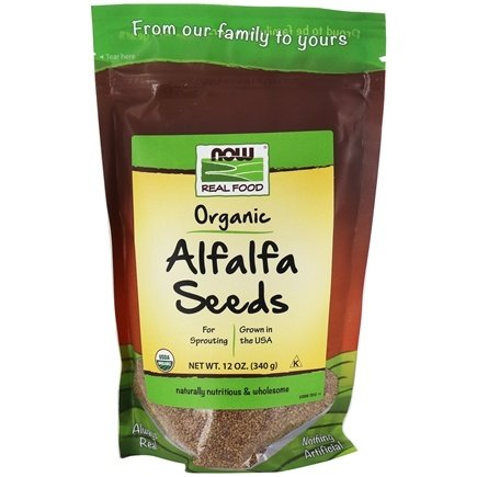 NOW Foods - Alfalfa Seeds For Sprouting Certified Organic - 12 oz.