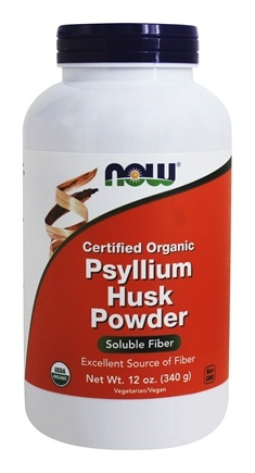 NOW Foods - Psyllium Husk Powder Intestinal Health 100% Certified Organic - 12 oz.