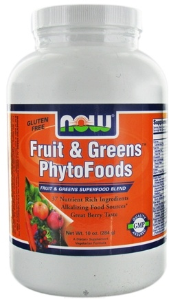 DROPPED: NOW Foods - Fruit & Greens PhytoFoods Superfood Blend Great Berry Taste - 10 oz. CLEARANCED PRICED