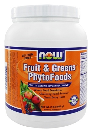 NOW Foods - Fruit & Greens PhytoFoods Superfood Blend Great Berry Blend - 2 lbs.