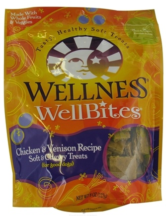 DROPPED: Wellness Pet - Wellbites Dog Treats Chicken & Venison Soft & Chewy Recipe - 8 oz.