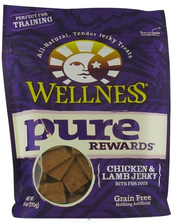 DROPPED: Wellness Pet - Pure Rewards Chicken and Lamb Jerky Bits Dog Treats - 6 oz. CLEARANCE PRICED