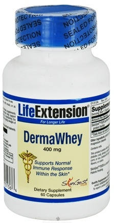 DROPPED: Life Extension - DermaWhey 400 mg. - 60 Capsules CLEARANCE PRICED