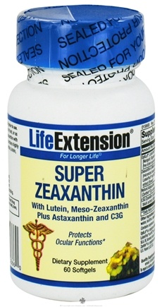 DROPPED: Life Extension - Super Zeaxanthin with Lutein & Meso-Zeaxanthin Plus Astaxanthin and C3G - 60 Softgels