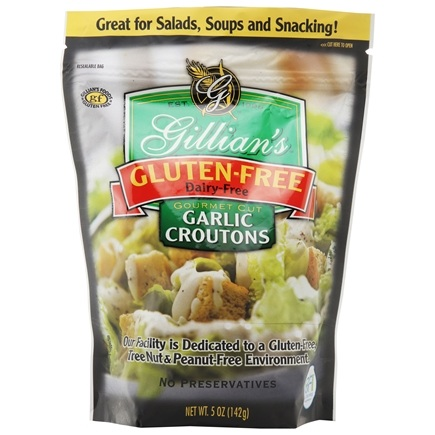 DROPPED: Gillian's Foods - Gluten Free Garlic Croutons - 5 oz.