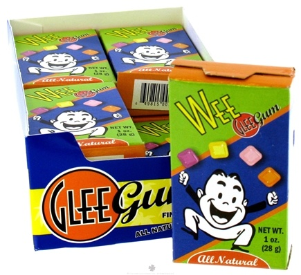 DROPPED: Glee Gum - Wee All Natural Chewing Gum Mixed Flavor - 1 oz.