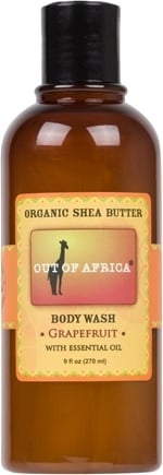 DROPPED: Out Of Africa - Organic Shea Butter Body Wash With Essential Oil Grapefruit - 9 oz. CLEARANCE PRICED