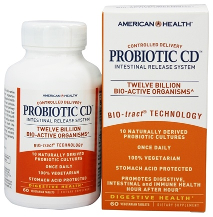 American Health - Probiotic CD Intestinal Release System - 60 Vegetarian Tablets
