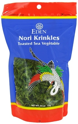 DROPPED: Eden Foods - Nori Krinkles Toasted Sea Vegetable - 0.53 oz. CLEARANCE PRICED