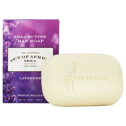 Out Of Africa - Pure Shea Butter Bar Soap Lavender - 4 oz.