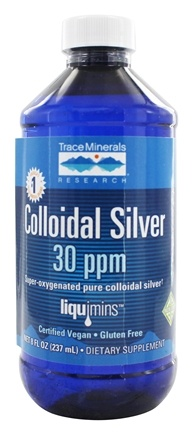Trace Minerals Research - Colloidal Silver 30 ppm - 8 oz.