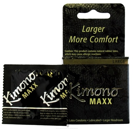 DROPPED: Mayer Laboratories - Kimono Maxx Lubricated Latex Condom Large - 3 Pack(s)