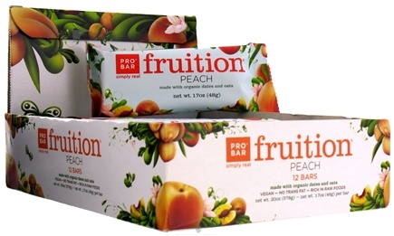 DROPPED: Pro Bar - Fruition Bar Peach - 1.7 oz. CLEARANCE PRICED