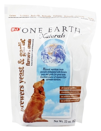 One Earth Naturals - Dog Treats Brewers Yeast & Garlic - 22 oz.