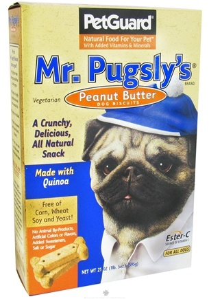 DROPPED: Pet Guard - Dog Biscuits Mr. Pugsly's Peanut Butter Treats - 21 oz.