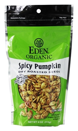 Zoom View - Organic Spicy Pumpkin Dry Roasted Seeds