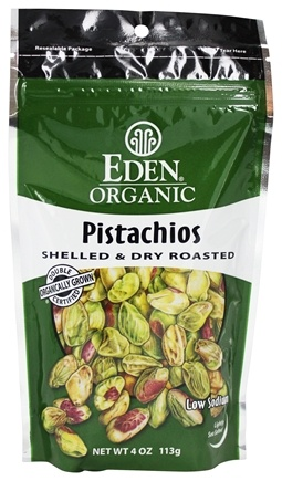 Zoom View - Organic Pistachios Shelled & Dry Roasted