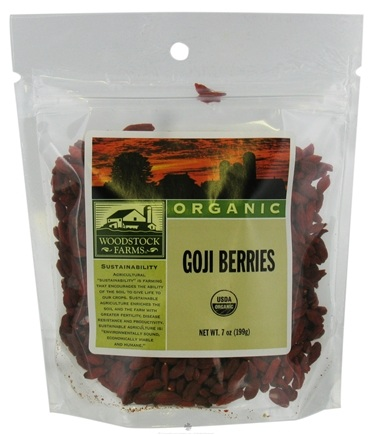 DROPPED: Woodstock Farms - Organic Goji Berries - 7 oz. CLEARANCE PRICED