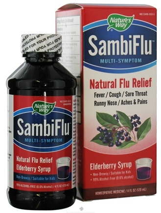 DROPPED: Nature's Way - SambiFlu Multi-Symptom Syrup Elderberry - 4 oz. CLEARANCE PRICED