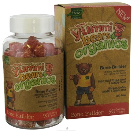 DROPPED: Hero Nutritionals Products - Yummi Bears Organic Bone Builder - 90 Gummies