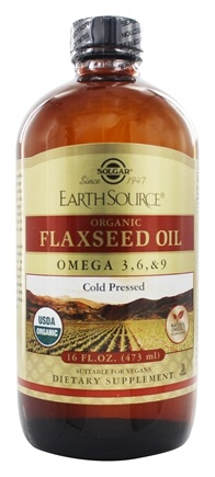 Zoom View - Earth Source Organic Flaxseed Oil Omega 3-6-9