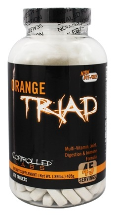 Controlled Labs - Orange Triad Multi-Vitamin, Joint, Digestion & Immune Formula - 270 Tablets
