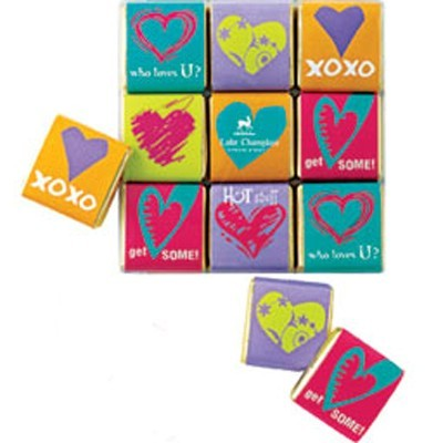 DROPPED: Lake Champlain Chocolates - Valentine Chocolate Conversation Squares - 3.6 oz. CLEARANCE PRICED