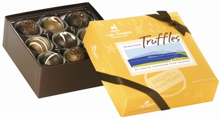 DROPPED: Lake Champlain Chocolates - UNPUBLISHED All Natural 9 Piece Chocolate Truffles - 7.8 oz.