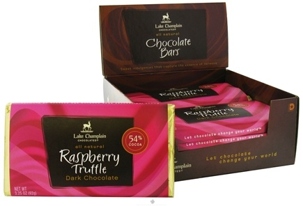 DROPPED: Lake Champlain Chocolates - All Natural Raspberry Truffle Chocolate Bar - 3.25 oz. CLEARANCE PRICED