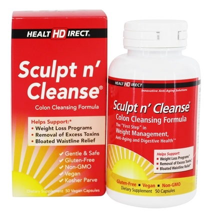 Health Direct - Sculpt n' Cleanse Colon Cleansing Formula 450 mg. - 50 Capsules