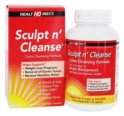 Health Direct - Sculpt n' Cleanse Colon Cleansing Formula 450 mg. - 175 Capsules